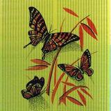 Бабочки красные на жёлтом арт. 0003