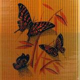Бабочки красные на оранжевом арт. 0005